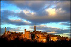 Atardecer en el castillo de Edimburgo