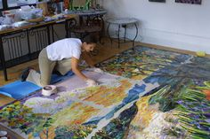 """Chippewa Creek"" mosaic mural by Yulia Hanansen - The size alone is intimidating, and it looks back breaking!"