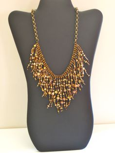 Native American necklace with gold and by MontanaTreasuresbyMJ