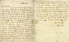 Letter from John Keats to Fanny Brawne.