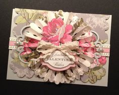 Fancy Valentine with Elegant Floral Anna by PinkPetalPapercrafts