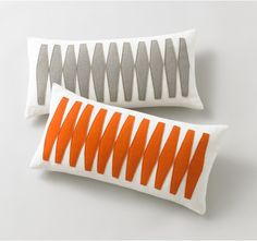 Otto Tangerine Pillow. would be a simple diy