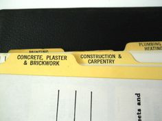Lefax Ring Binder Fact Sheets Construction Plumbing Electrical Carpentry Vintage