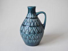 Vintage West German pottery vase Bay pottery in by LeKosmosBerlin