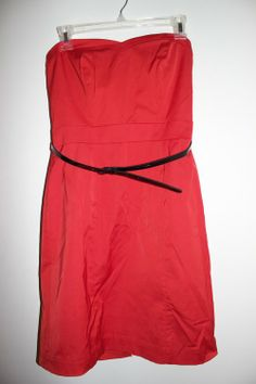 Red H&M Strapless Sheath Dress - $16