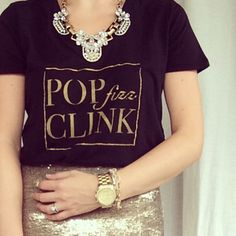 Pop Fizz Clink Champagne Graphic Tee Print T by TheCoutureKitten