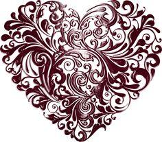 Fancy Hearts_Heart and Tubes. Valentine Heart, Valentines Day, Heart Images, I Love Heart, Heart Wallpaper, Love Symbols, Heart Art, Artsy, Clip Art