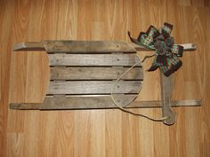 barnwood sled -- or use pallet wood