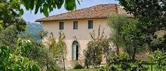 Villa Bianca is a renovated farmhouse villa in Tuscany, set in a tranquil landscape of olive groves and vineyards Luxury Villas Italy, Villas In Italy, Farmhouse Remodel, My Happy Place, Tuscany, Gazebo, Exterior, Outdoor Structures, Landscape