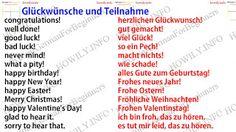 German for all Deutsch für alle: Glückwünsche und Teilnahme