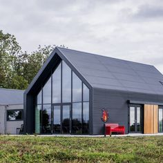 References - The steel house - Referenties – De stalen woning References – The steel house - Roof Cladding, House Cladding, Facade House, House Roof, House Extension Design, House Design, Tree House Plans, Modern Barn House, Modern Mountain Home