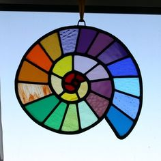 Rainbow Stained Glass Panel