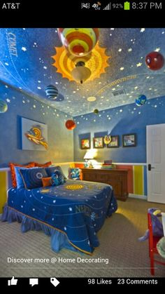 Maybe I could make a space themed bedroom