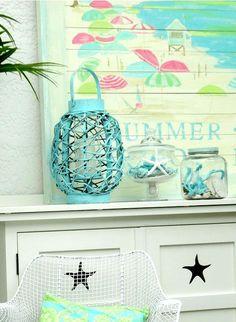 Summer Mantel in a Beach Cottage