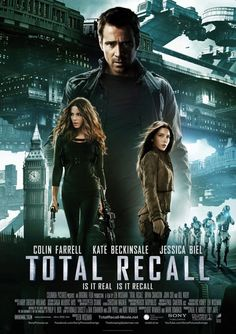 The Worst: TOTAL RECALL    This international poster for 'Total Recall,' featuring a giant Colin Farrell towering over Big Ben, Kate Beckinsale and almost everything else in the future, suffers from serious misjudgement in perspective and placement.