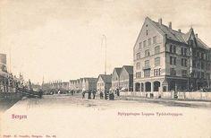 Nybyggningen Leppen Tyskerbryggen Postkort tidlig 1900-tall. Kilde: Det gamle Norge