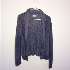 Chunky Purple Sweater This sweater has only been worn once and is in great condition. It is very soft warm and cozy! It has 3 buttons to button it up. American Eagle Outfitters Sweaters Cardigans