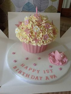 A pretty giant cup cake.