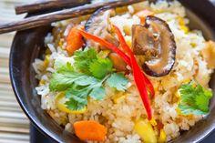 Thai Mushroom Fried Rice. (Suggestion: Double the amount of mushrooms.)
