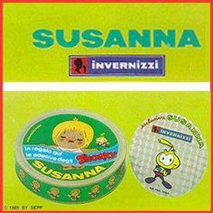 Formaggini Susanna con in regalo gli adesivi olografici degli Snorky.