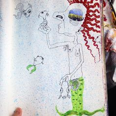 #meforeaday #sketchbook #mermaidhair #fishy #artist #drawing #artwork #fineart