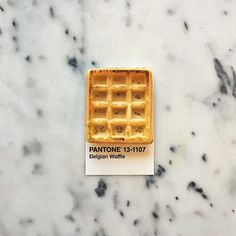 """by Lucy Litman: """"I love you a waffle lot. Pantone Colour Palettes, Pantone Color, Pantone Swatches, Pantone Universe, Colour Pallete, Colour Board, Paint Chips, Artistic Photography, Graphic Design Inspiration"""