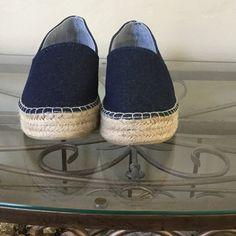 Zara Denim Platform Espardrills Women's US 10.5 M Zara denim Espardrilles, only worn once. The heel is 2 inches. This a great buy. Zara Shoes Espadrilles