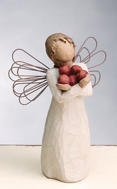 Willow Tree - Angel of Good Health, and abundance of health and happiness. Willow Tree Statues, Willow Figurines, Willow Tree Engel, Willow Tree Figuren, Willow Creek, Tree Sculpture, Wood Crafts, Creative, Christmas