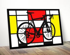 Cycling art for the modern home See more or buy on https://www.facebook.com/Bikegraphic/