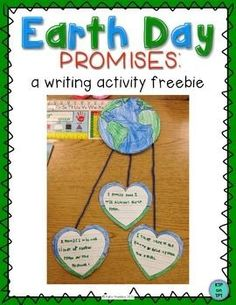Earth Day Promises: a writing activity freebie. I love the idea of taking an earth day pledge with kids. Earth Day Activities, Spring Activities, Holiday Activities, Writing Activities, Teaching Resources, Teaching Ideas, Earth Day Crafts, Sentence Starters, Arbour Day
