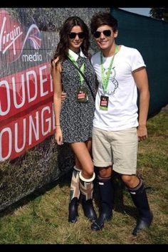 Louis and Eleanor at the V festival