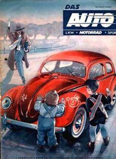 Portada revista Das Auto. VW typ 11C. Década de 1950