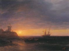 Sunset at Sea - Ivan Aivazovsky - Completion Date: 1878