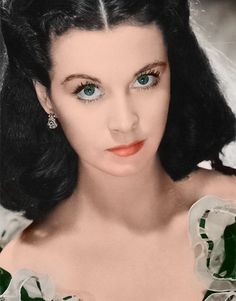 Gone With the Wind || I know the novel said that Scarlett O'Hara was not beautiful, but Vivian Leigh at this time in her life was extraordinarily beautiful.