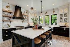 via Clark & Co, 20 Modern Farmhouse Kitchens via A Blissful Nest