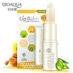 BIOAQUA Natuurlijke Aloë Honing Hydraterende Lippenbalsem Kleurloos Verfijnen reparatie lip rimpels Voor Vrouw Winter Lip Care Gratis Verzending
