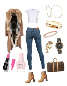 A fashion look from January 2018 featuring givenchy t shirt, canvas coat and slim skinny jeans. Browse and shop related looks. Charlotte Russe, Givenchy, Versace, Tory Burch, Fashion Looks, Louis Vuitton, Skinny Jeans, Slim, Coat