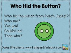 Kathy Griffin's Teaching Strategies: Back to School Games with Pete the Cat