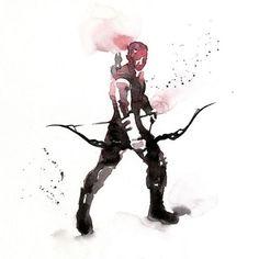 Watercolor Super Heros 7