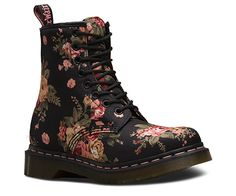 Doc Martin's Floral Boots 1460 W BLACK 11821016