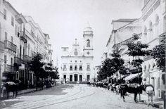 Igreja e Largo do Livramento.  c.1880. Guilherme Gaensly.  Colecao Gilberto Ferrez.Instituo Moreira Sales.   | tc2