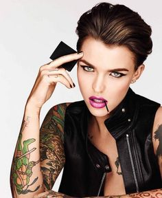 When she collabed with Urban Decay and set your lady parts on fire. | 30 Times Ruby Rose Lit A Fire Deep Within You