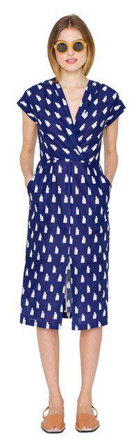 Fancy - TILDA ARITA WRAP DRESS | Apiece Apart