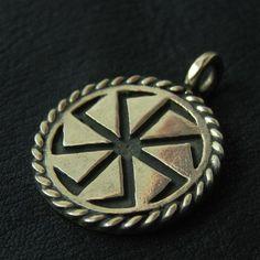Bronze Kolovrat pendant from The Sunken City by DaWanda.com