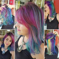 cabelos coloridos, unicórnio hair, Brasília