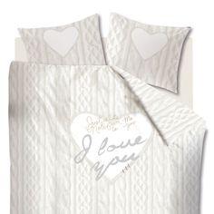 #Beddinghouse #dekbedovertrek Knitted Love www.beterbed.nl