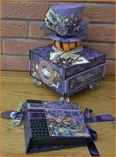 Graphic 45 Halloween In Wonderland Project Ideas - free tutorial at Charmed Cards and Crafts