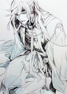 Image in 🌙 Other Anime 🌙 collection by Ëllä on We Heart It Cool Anime Guys, Hot Anime Boy, Anime Love, Touken Ranbu, Chica Anime Manga, Manga Boy, Anime Art, Anime Cosplay, Cool Animes