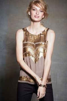 Deco Sequin Petite Tank at anthropologie #HolidayStyle