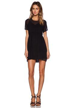 OH MY LOVE Sheer Mini Dress in Black | REVOLVE
